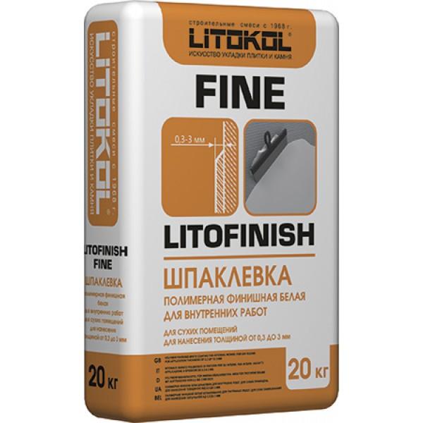 Шпаклевка финишная Литокол LITOFINISH FINE 20кг