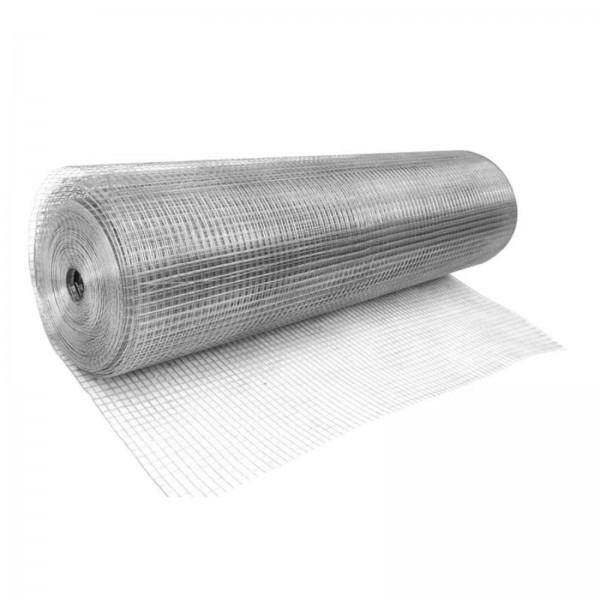 Сетка сварная оцинкованная ячейка 10х10х0,6мм (1х15м рулон)