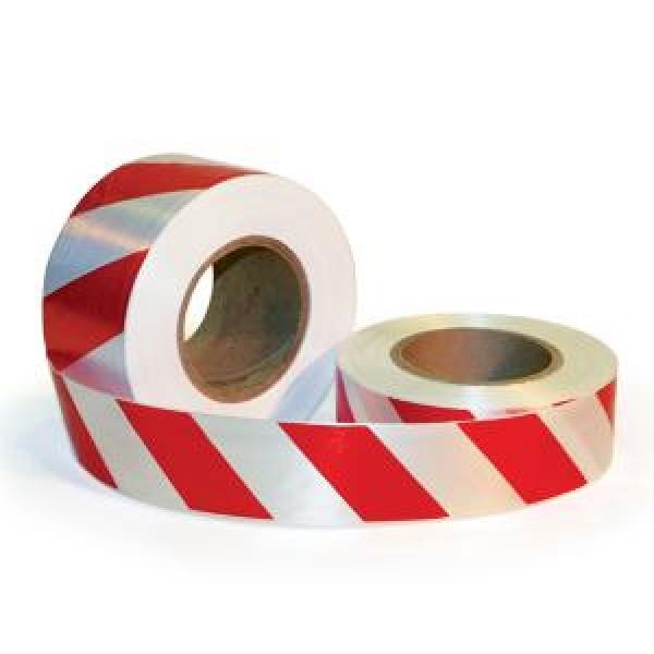Лента сигнальная цвет красно-белый 50 мм 200 м