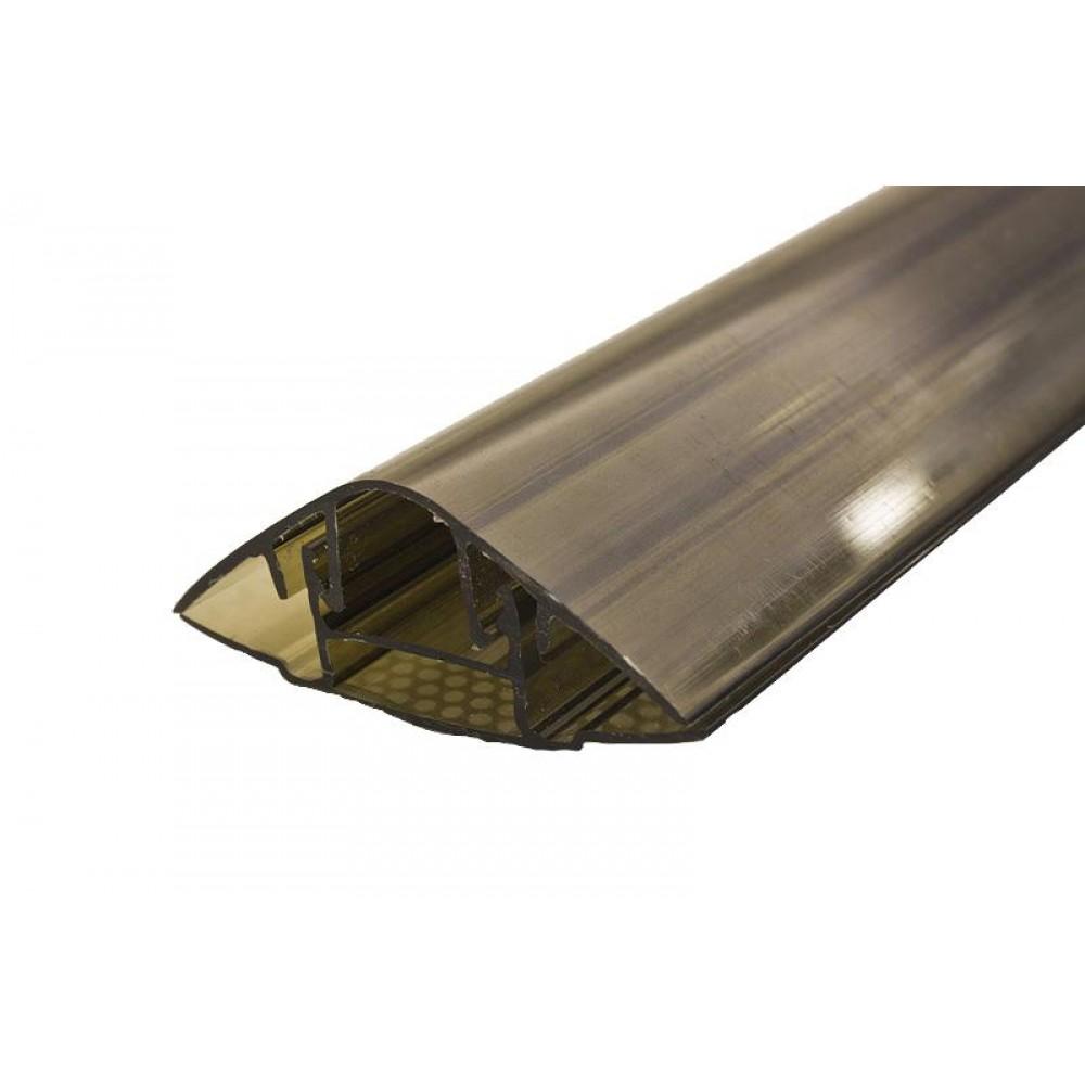 Профиль соединительный разъемный 6 м х 16 мм (база + крышка)