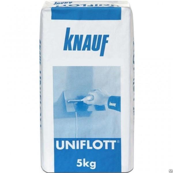 Шпаклевка гипсовая высокопрочная Knauf Унифлот 5 кг