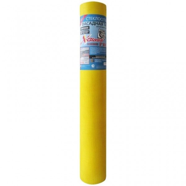 Сетка желтая стеклотканевая фасадная 5х5 (40 м.)