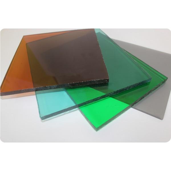 Монолитный поликарбонат цветной 2,05 м х 3,05 м х 4 мм
