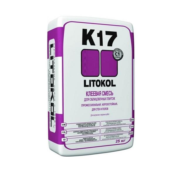 Клей для плитки Litokol K 17 25 кг