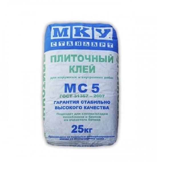 Плиточный клей МС-5 МКУ, 25 кг.