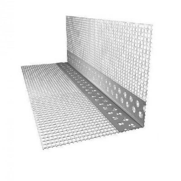 Профиль угловой с сеткой (ПВХ) 100х100х2500 мм.