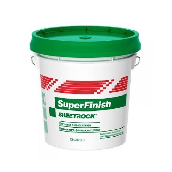 Шпатлевка универсальная SuperFinish Sheetrock / Шитрок 17 л / 28 кг