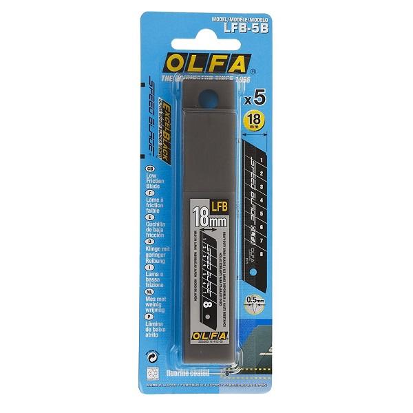 Лезвие для строительного ножа Олфа, 18 мм.