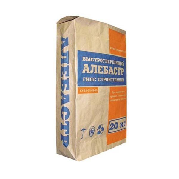 Алебастр гипс строительный  20 кг