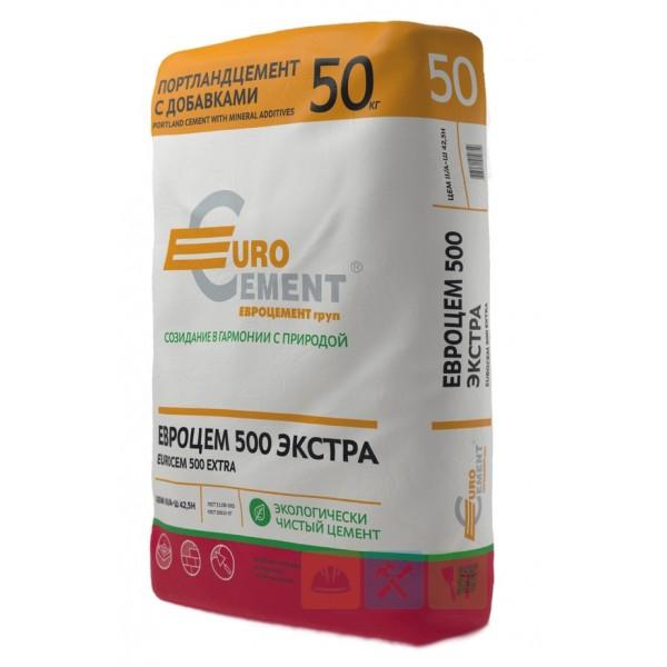 Цемент  Евроцемент М-500 50 кг