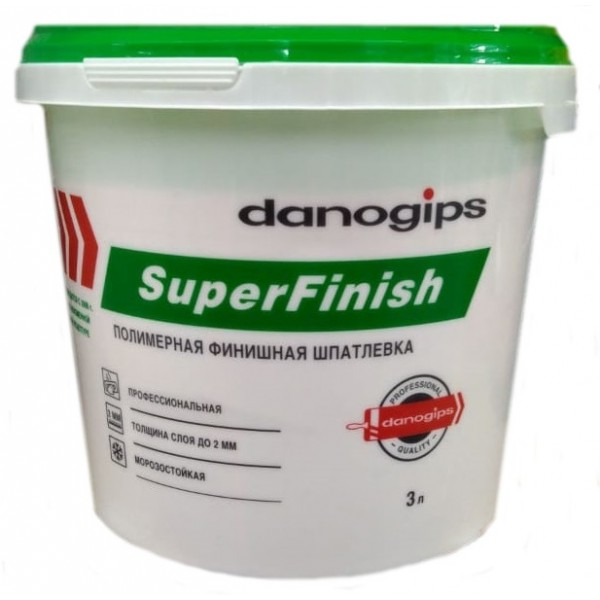 Шпатлевка Danogips Superfinish универсальная 3 л