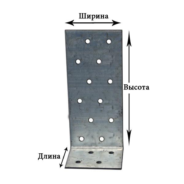 Крепежный уголок анкерный 40х100 ширина 40 мм