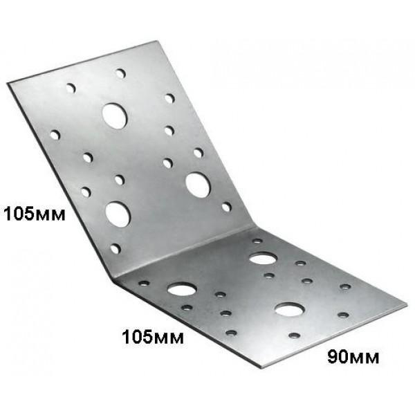 Крепежный уголок под 135 градусов 105х105х90мм
