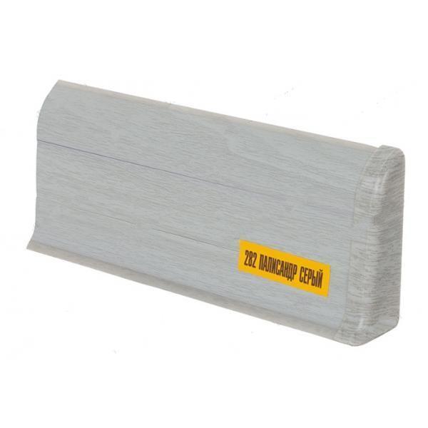 Плинтус напольный 55мм 2.5м, Палисандр серый