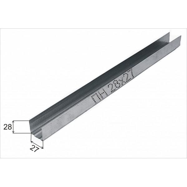 Профиль направляющий Стандарт 28x27х3000 мм