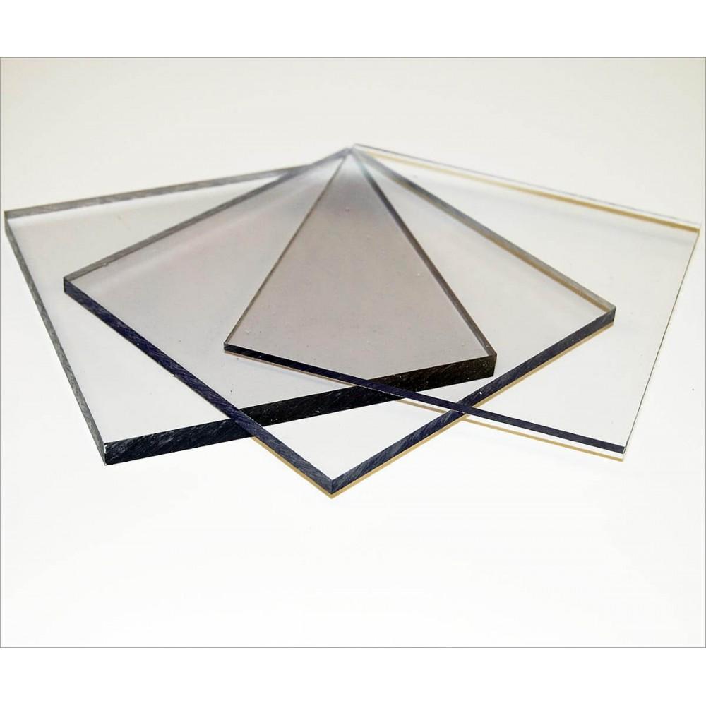 Монолитный поликарбонат прозрачный 2,05 м х 3,05 м х 4 мм