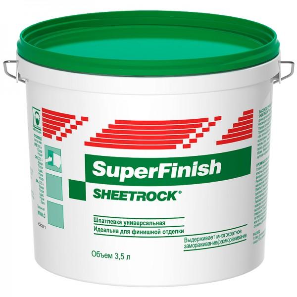 Шпатлевка универсальная  SuperFinish Sheetrock / Шитрок  3.5 л / 5 кг