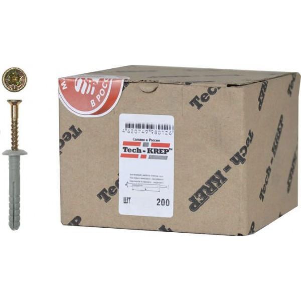 Дюбель-гвоздь 6х40 мм с грибовидным бортиком Tech-KREP
