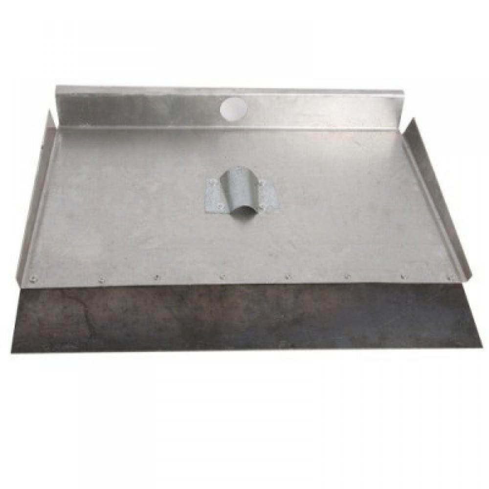 Лопата трехбортная алюминиевая с накладкой