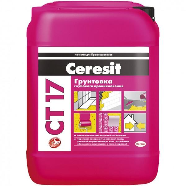 Грунтовка глубокого проникновения Ceresit CT 17 10 л