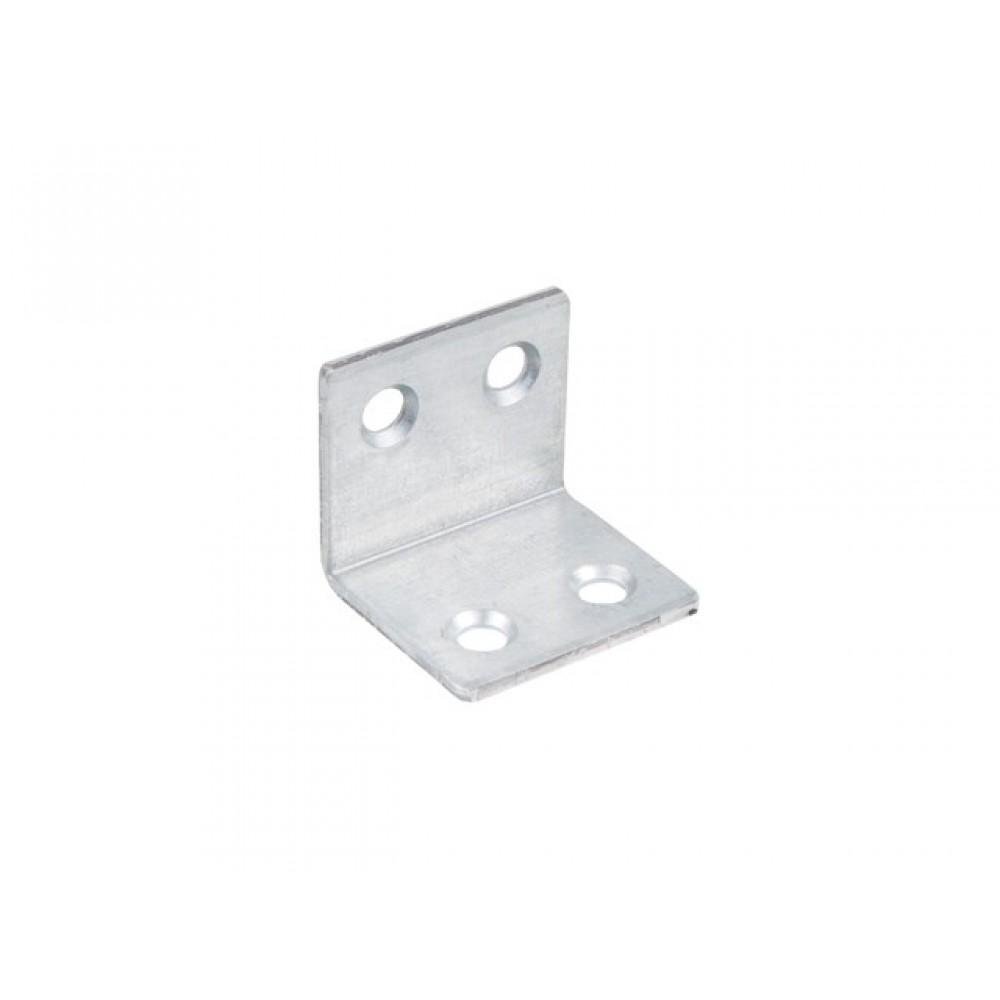 Угол мебельный широкий, Белый цинк, 42х42х30 мм