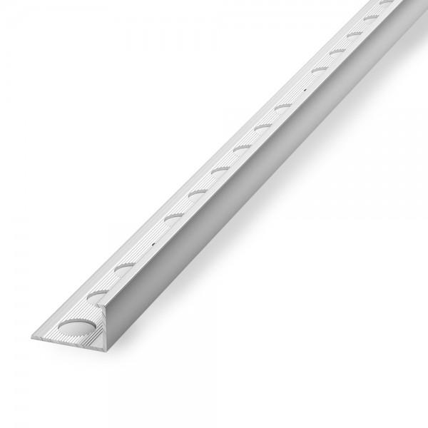 Кромка алюминиевая угол наружный 10 мм L-тип серебро 2,7 м