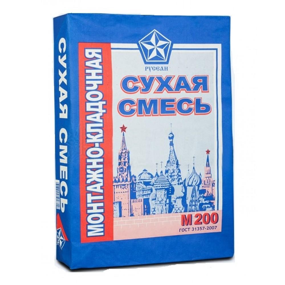 Сухая смесь монтажно-кладочная РУСЕАН М-200 (40кг)