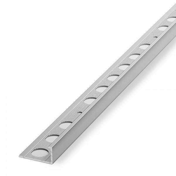 Кромка алюминиевая угол наружный 10 мм L-тип анодированное серебро 2,7 м