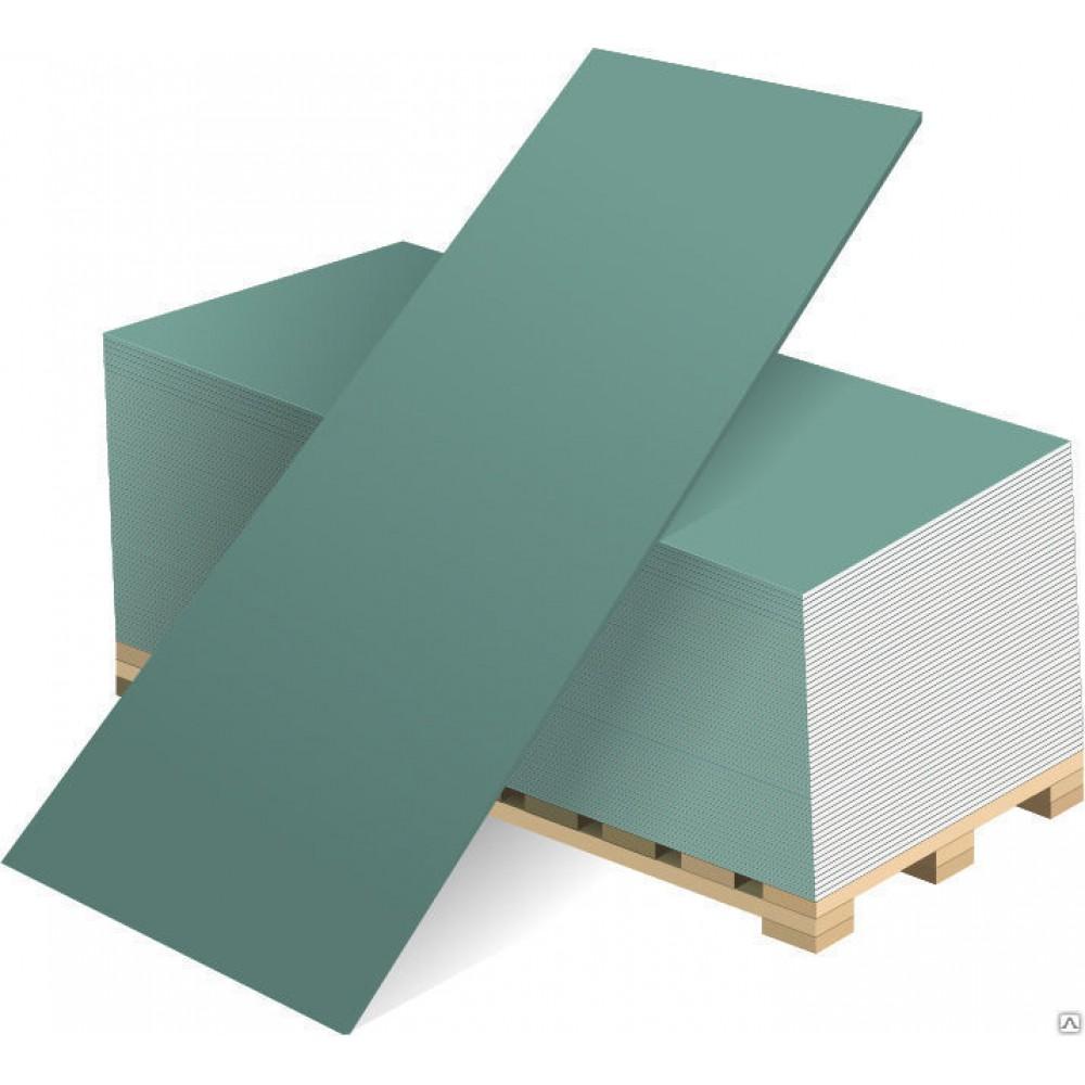 Гипсокартон влагостойкий  ГКЛВ Knauf  3000х1200х12,5 мм