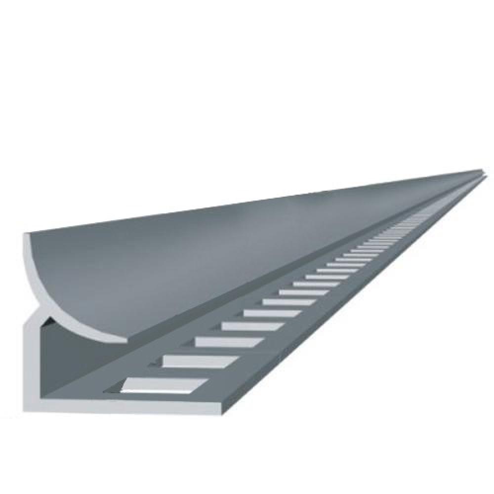 Профиль для плитки внутренний угловой белый 7 мм