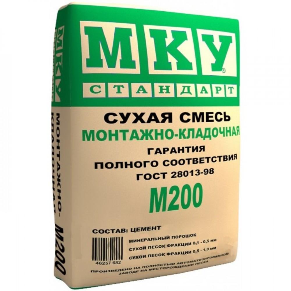 Сухая смесь монтажно-кладочная М-200 (40 кг) МКУ