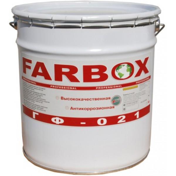 Краска грунт Farbox / Фарбокс ГФ-021 Красно-коричневая, 20 кг