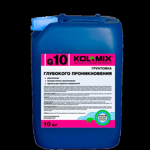 Грунтовка глубокого проникновения G10 KOL&MIX / Колмикс (10кг)