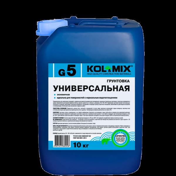 Грунтовка универсальная G5 KOL&MIX / Колмикс (10кг)